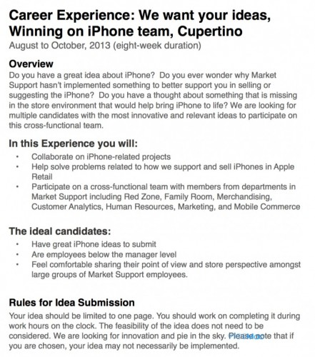Apple Asks Retail Store Employees How To Sell The iPhone, Offers Incentive