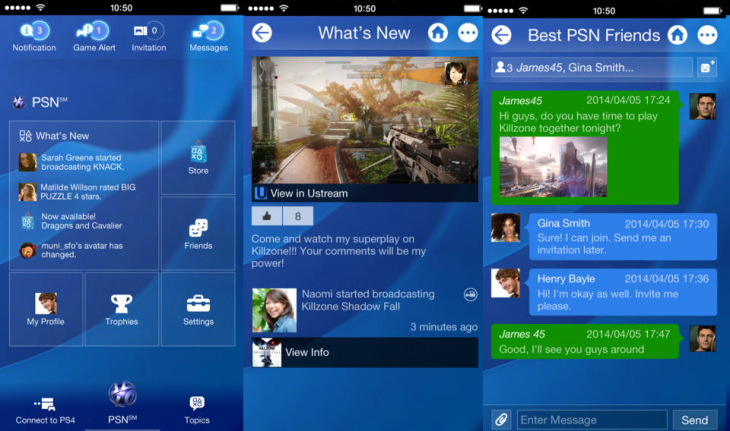 Official iOS 'Playstation App' Launches, Lets You Send Messages