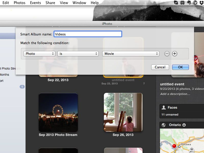 Tip: Find Your Videos Quickly In iPhoto