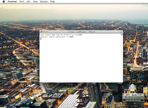 how to run a command in terminal mac