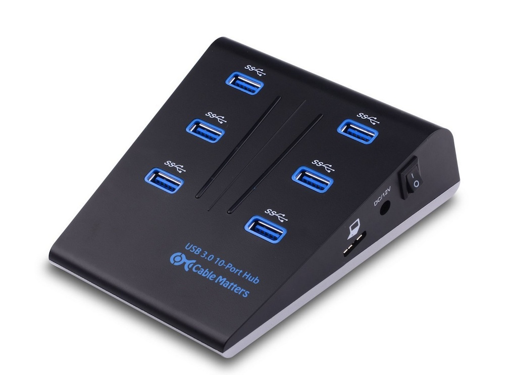 This Usb 3 0 Hub Gives You Plenty Of Powered Ports Macgasm