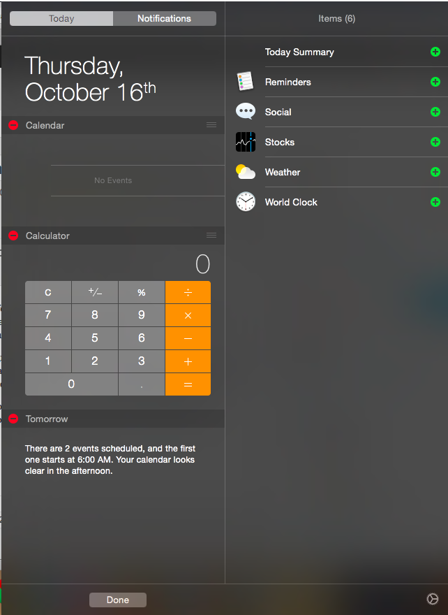 Customize your Notification Center.