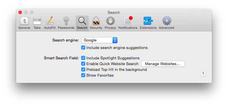 how to get search bar up on safari