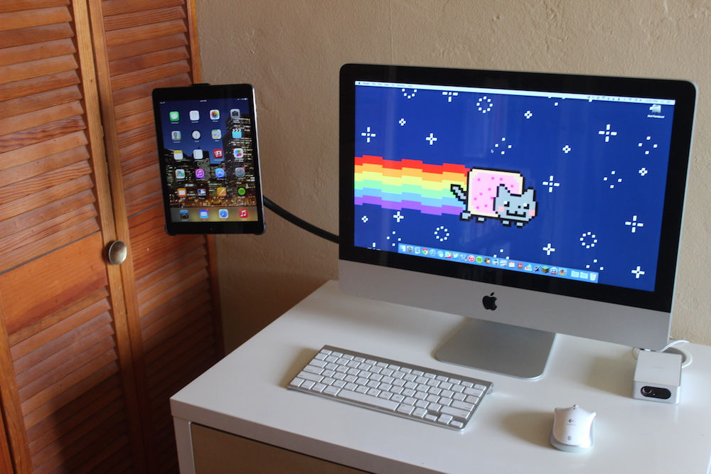 iPad and iMac, side by side.