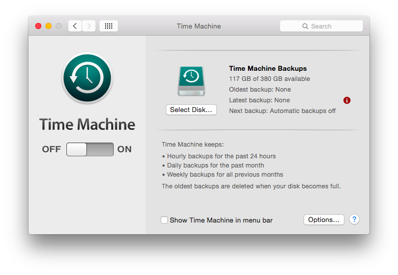 Time Machine makes it easy to back up your Mac.
