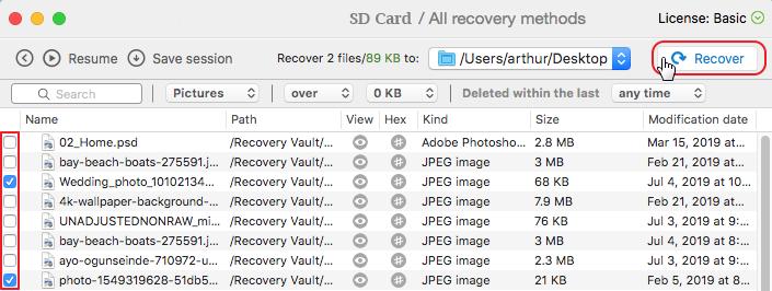 recover photos from sd card mac
