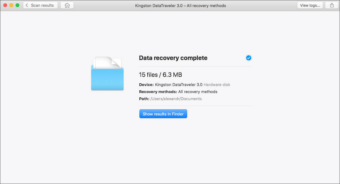finally recover lost files