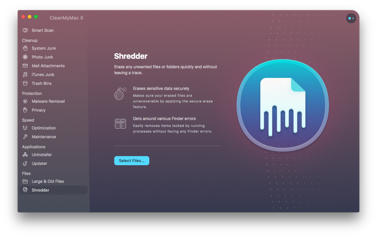 CleanMyMac X File Shredder