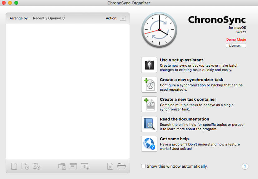 ChronoSync backup solution