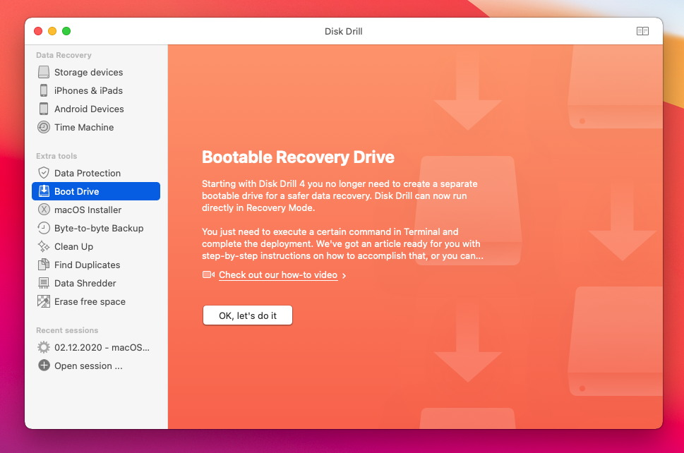 disk drill 4 recovery drive