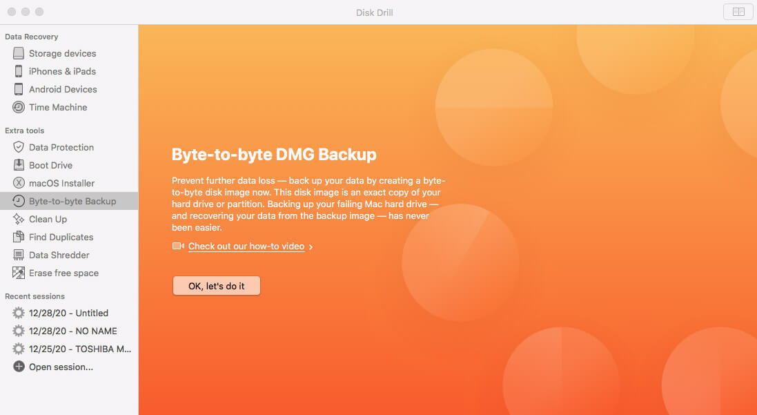 disk drill backup software