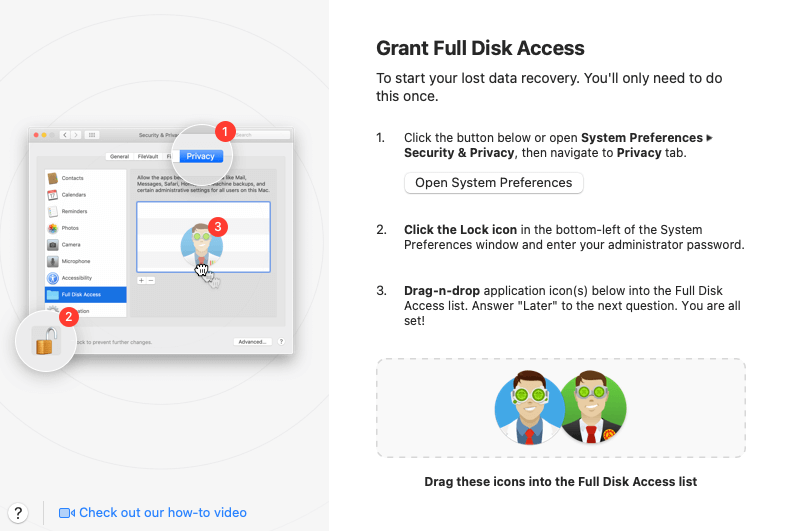 disk drill full disk access