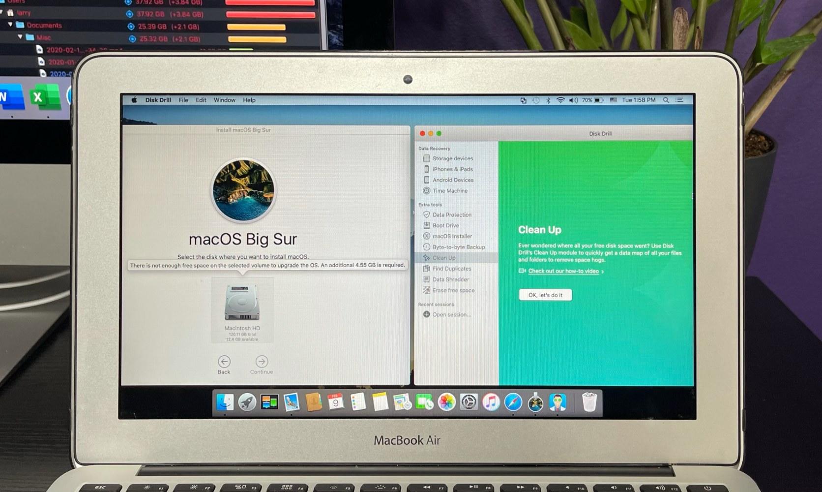 macOS Big Sur update free space