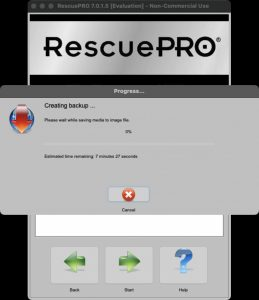 rescuepro scan in progress